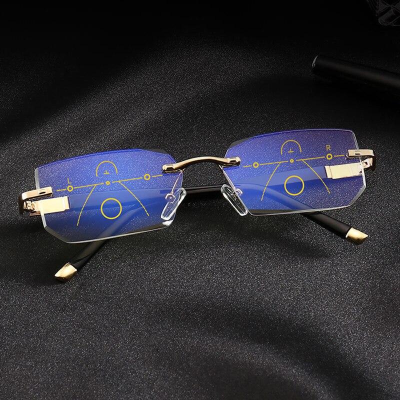 Image 3 - SOOLALA, без оправы, прогрессивные очки, Мультифокальные очки для чтения, анти синий светильник, очки, алмазная резка, очки для дальнозоркости-in Женские очки для чтения from Аксессуары для одежды on AliExpress - 11.11_Double 11_Singles' Day