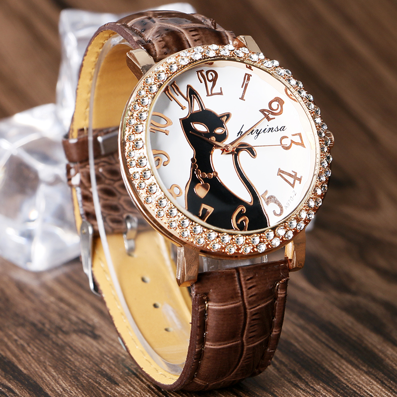 Leather Cat Watch For Women