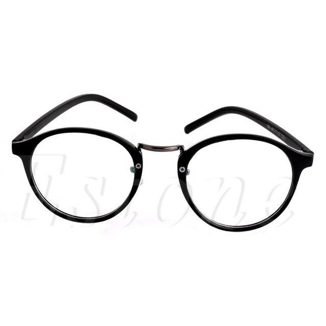 Unisex Wanita pria Retro Vintage Putaran Lingkaran Bingkai Batal Lens  Kacamata Kacamata Fashion 6828849881
