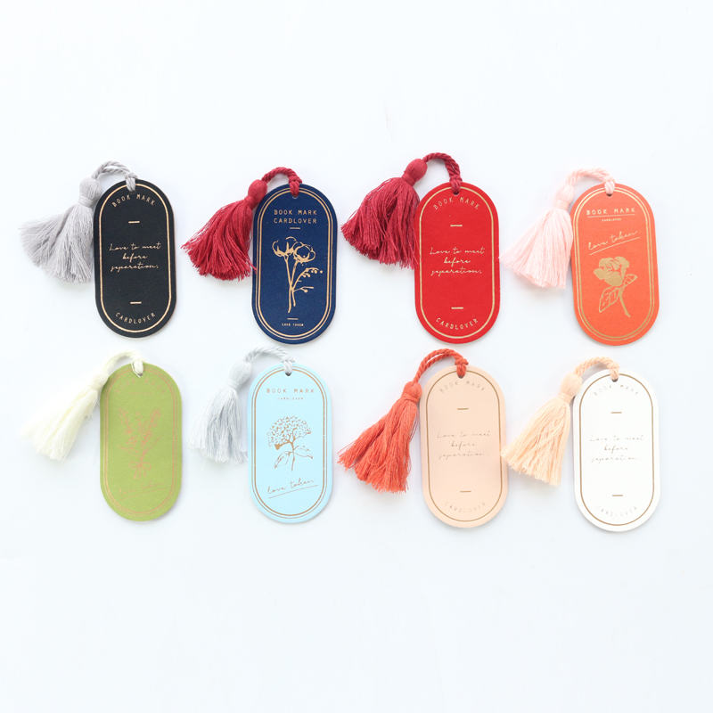 Classic Vintage PU Leather Office School Student Index Bookmark Gift Stationery Supplies,with Tassel,9 Colors