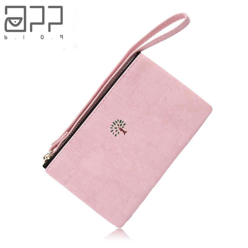APP BLOG Brand Women's Short Tree Wallet 2017 New Design Zipper Clutch Purse Strap Coin Purse Card Key Small Bags