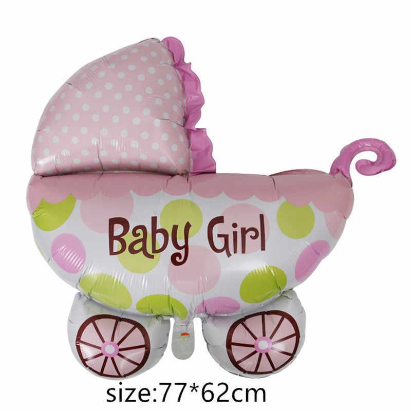 ฟอยล์บอลลูนเด็กทารกบอลลูนอากาศ 1th รถเข็นเด็กทารกสำหรับสาววันเกิด inflatable เด็กหมวกการ์ตูน