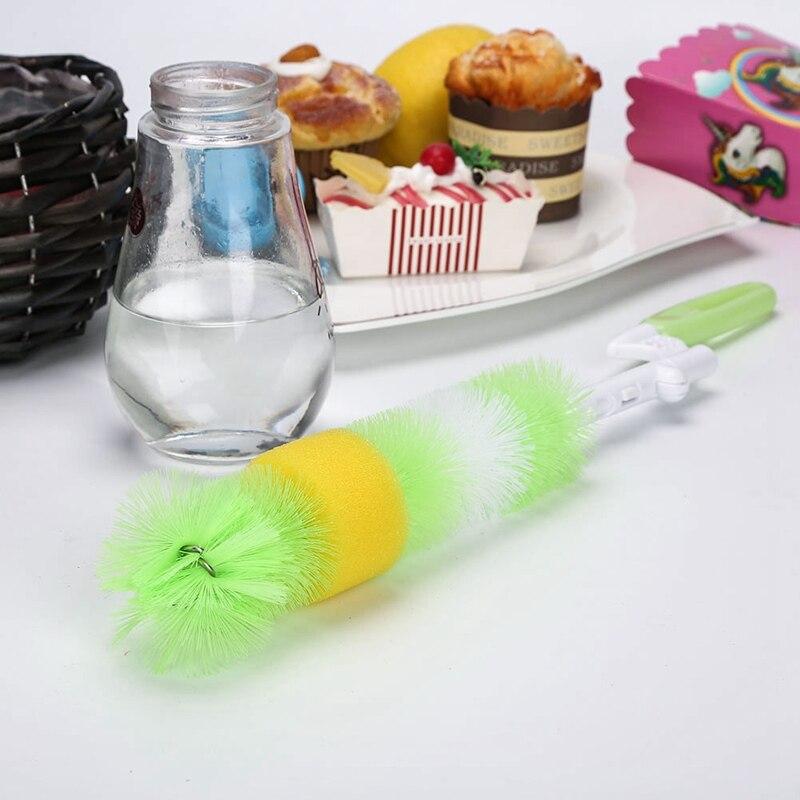 New Arrival Baby Bottle Brush Nipple Brush Milk Feeding Bottle Brushes 360-degree Rotating Head Cup Cleaning Brush