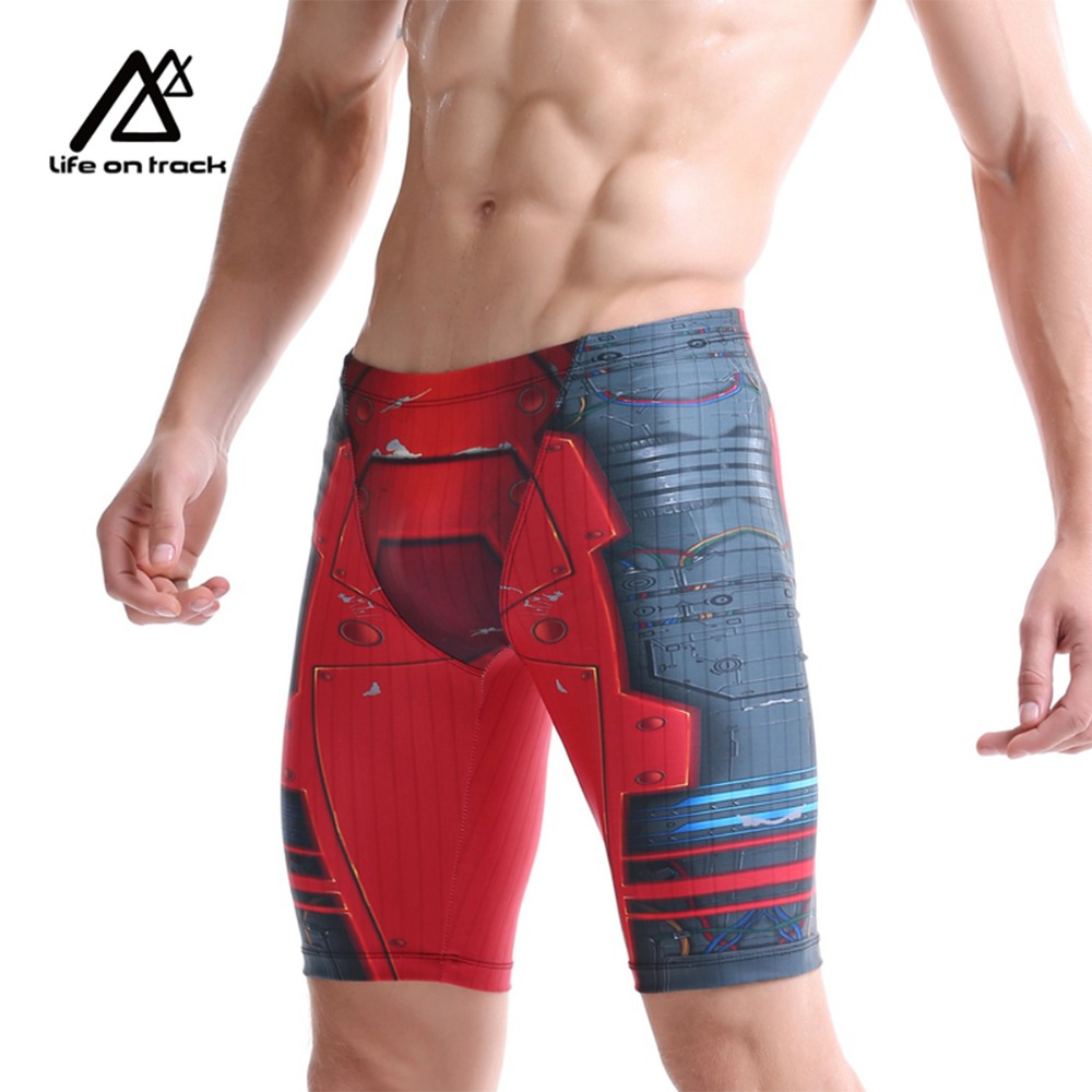 Men's Swimwear Iron Man Swim Jammers Triathlon Swimming Trunks Emonder Breathable Quick Dry Shorts Surfing Diving Sports Shorts