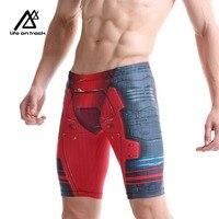 Men's Swimwear/Iron Man Swim Jammers Triathlon Swimming Trunks Brand Breathable Quick Dry Shorts Surfing Diving Sports Shorts