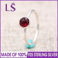 LS 100% 925 כסף מצעד ינואר פברואר אגל אבן המזל טבעת לנשים טבעות אופנה DIY. טבעות נישואים חג המולד N