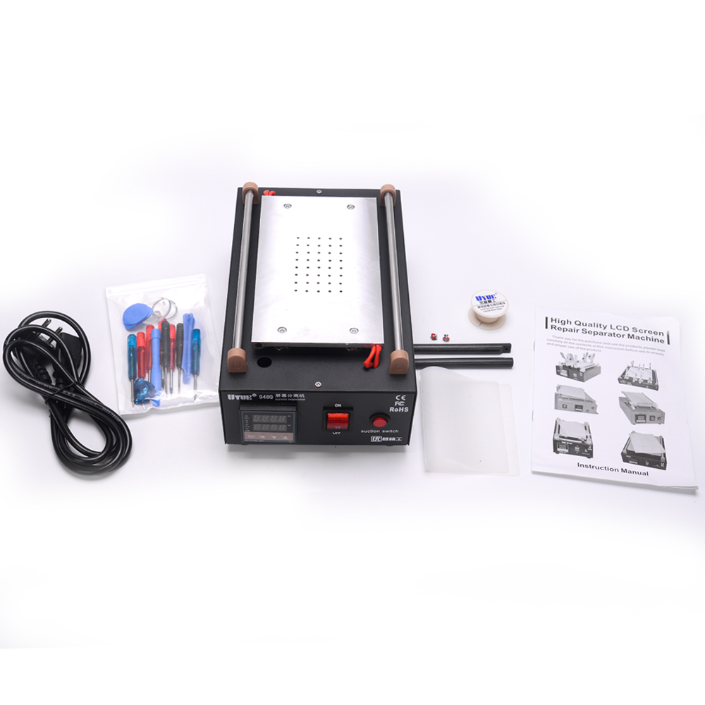Max 7 Uyue Machine With 13 Phone LCD Tool Separator 948Q Pcs Built In Inches Pump Glass Screen Mobile Vacuum Disassemble