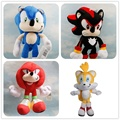 1PC Anime Sonic the Hedgehog Plush Baby Cartoon Sonic Boom Plush Toys Cotton Soft Stuffed Doll Christmas Gifts Cute