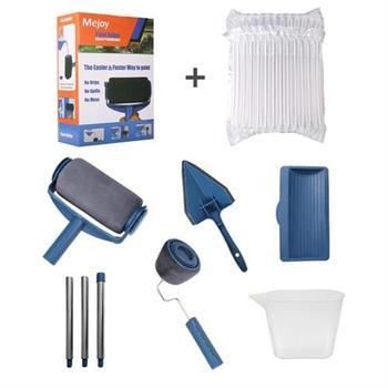 8 unids/set multifunción DIY pintura rodillo mango herramienta hogar Oficina pared corredor rodillo pintura herramientas Kits