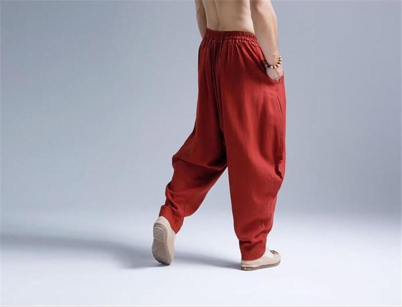 Pantalon Shenzhen rouge de dos