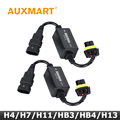 Auxmart Canbus Free Error Advertencia Cancelador Fit Car Kit de Faros de Luz Antiniebla H4 H13 HB3 HB4 9005 9006 H11 H8 H7 HB2 9003 Enchufe