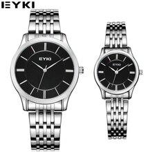 EYKI Vestido Simple Diseño de Los Amantes Del Reloj 10 M Impermeable Casual de Negocios Relojes Hombre 2016 Nueva Llegada Parejas Relojes de Cuarzo 8852