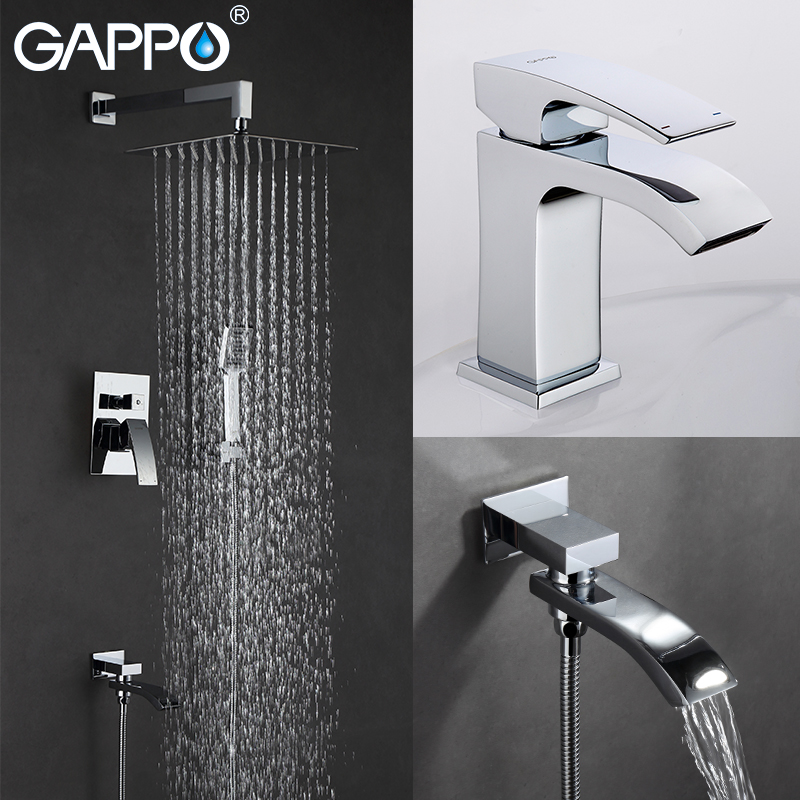 GAPPO Basin Faucets basin sink tap water mixer shower faucet bath tub mixer rain shower torneira do chuveiro