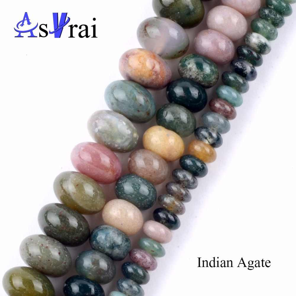 2*4mm Natural Indian Agates Rondelle Beads For Jewelry Making Bracelets Neklaces Spacer Wheel Beads diy Needlework Accessories