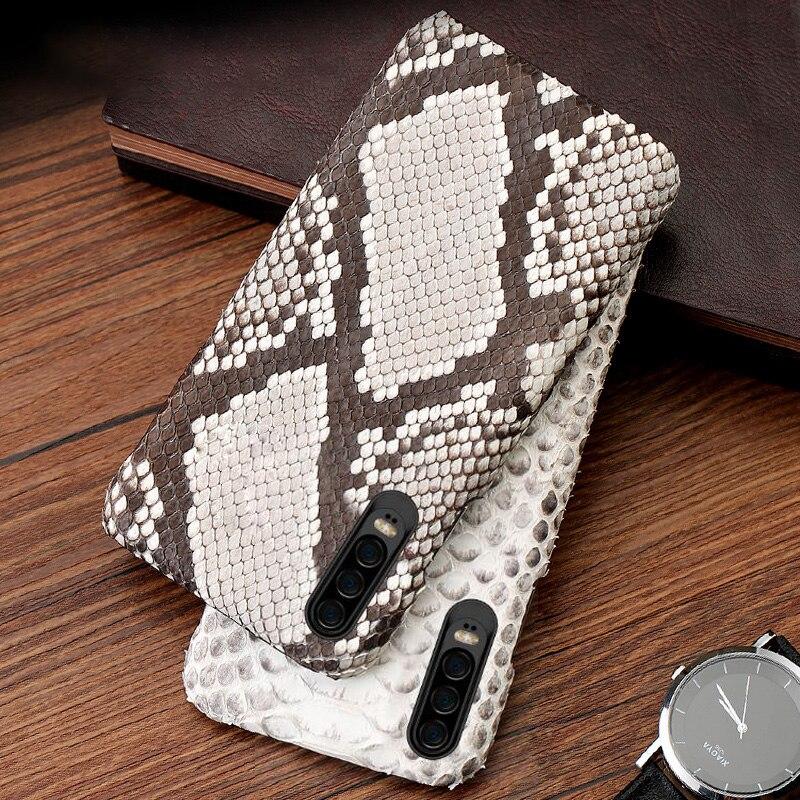 Téléphone de luxe etui téléphone huawei P10 P20 P30 Lite Mate 9 10 20 lite Pro Python Peau Housse Pour Honor 8X9 10 V20 P Smart Case