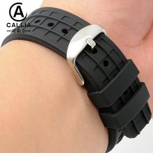 High Quality Arc interface Silicone Watch Strap Band 22mm For Casio Sweat proof sport Watchbands New Fashion Men's watch band