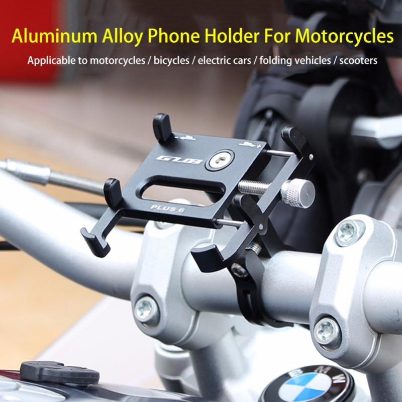 GUB PLUS 6 Mobile Phone Holders Suitable For Millet Bike And Scooter Aluminum Alloy Mobile Phone Holders image