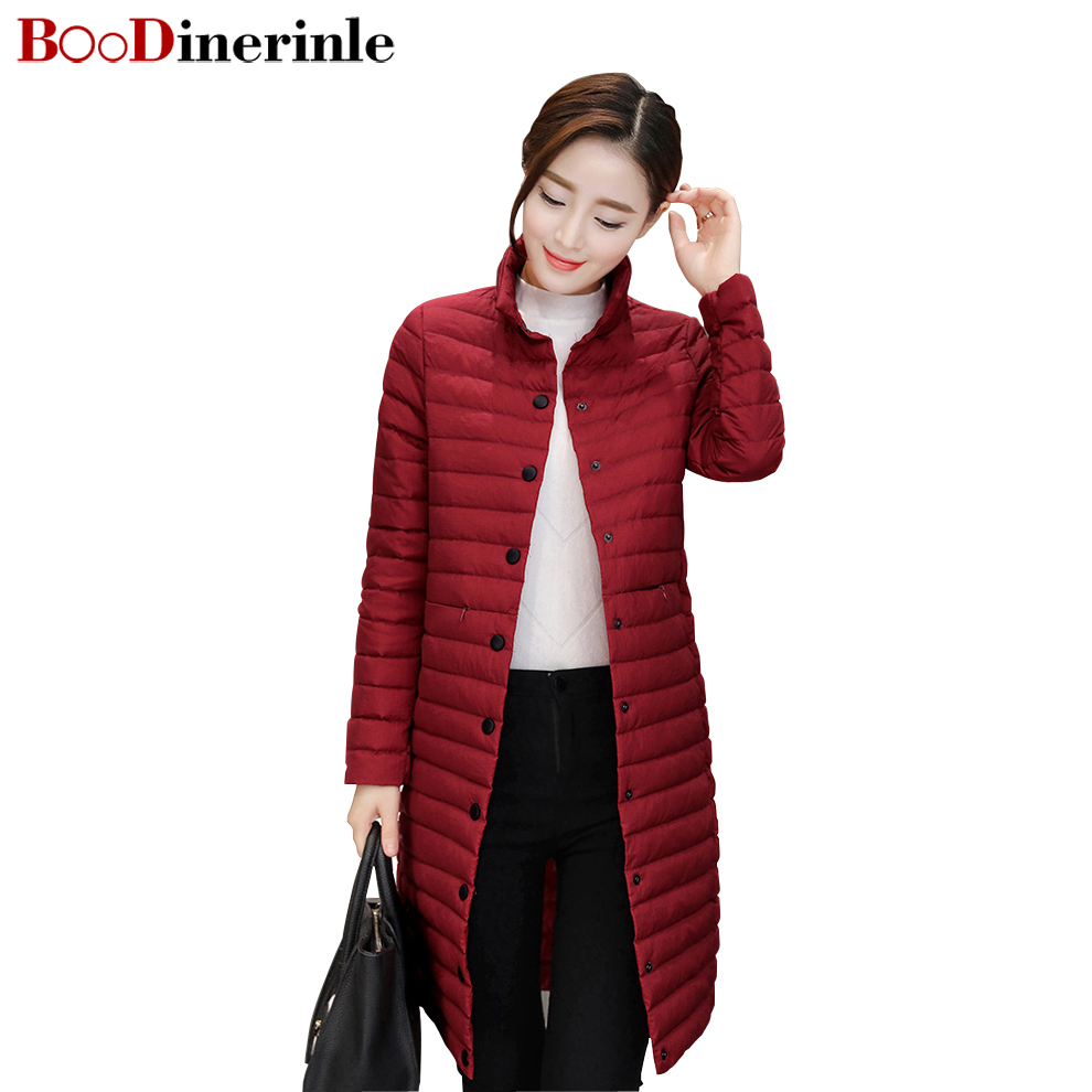 682ed3487cd BOoDinerinle 2017 It Comes With Scarves Thin Down Jacket Women Self  cultivation casacos de inverno feminino parka mujer YR011-in Down Coats  from Women s ...