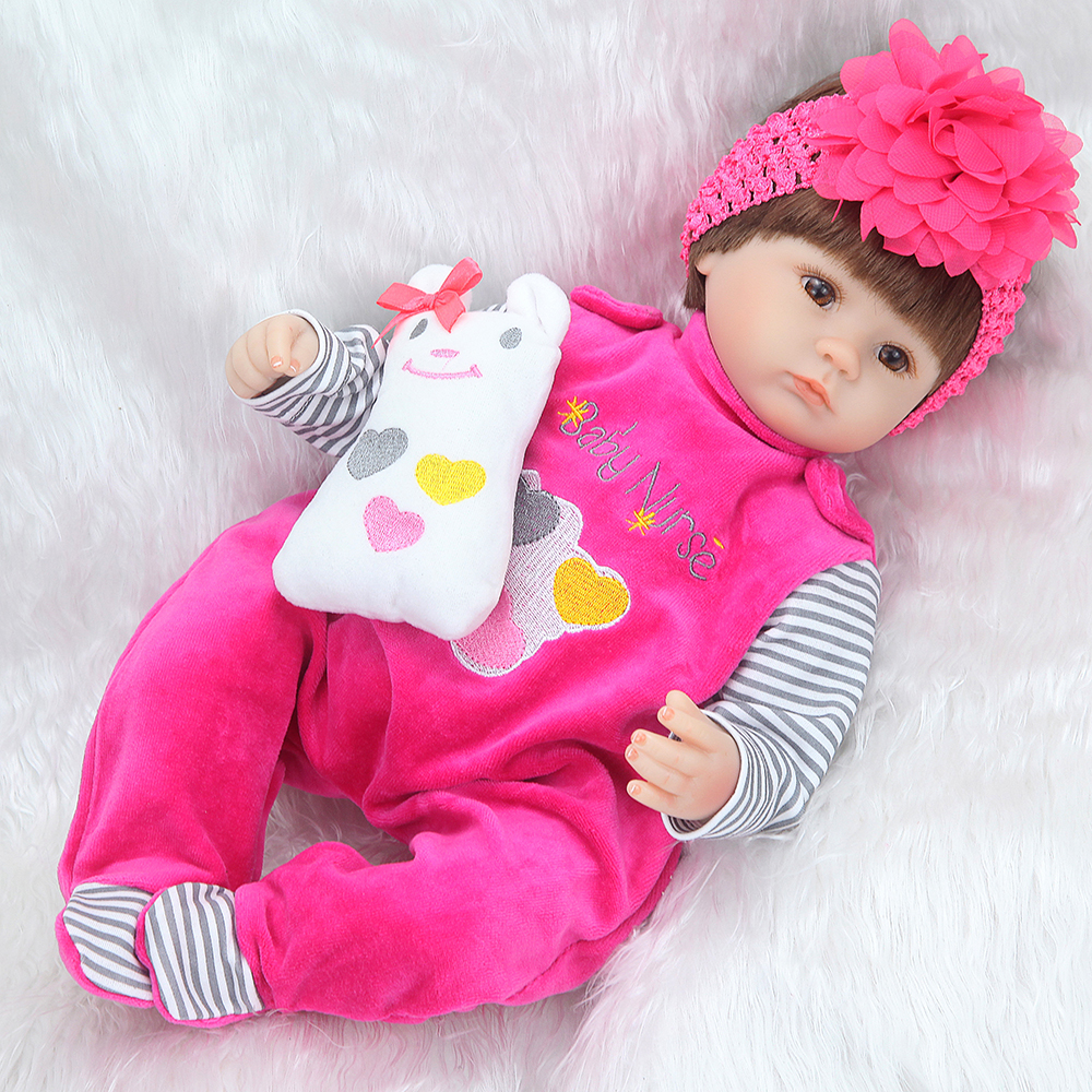 Bebe Silicone realistic reborn 42cm Reborn Baby Doll kids Playmate Gift For Girls new year toys