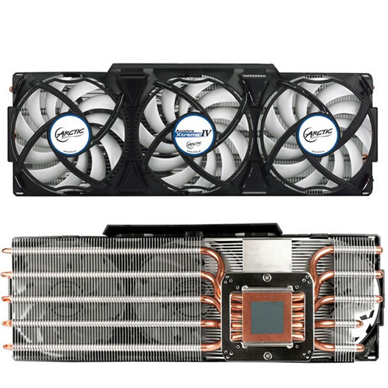 for ARCTIC Accelero Xtreme IV 92mmX3 PWM Fans radiator VGA