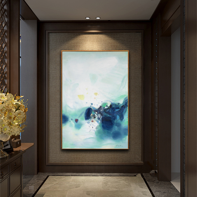 Living Room Painting Canvas Zhu Dequn Abstract Picture Home Decor Dining Modern Wall Art