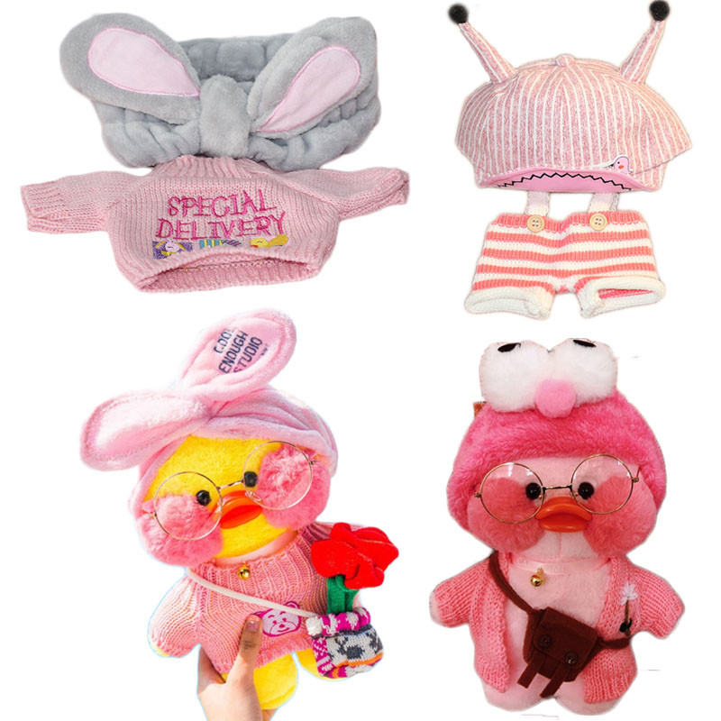 Lalafanfan Kawaii Cafe Yellow Duck Plush Toy Cute Plush Toy Animal Doll Children Plush Toy Children Birthday Gift 30cm