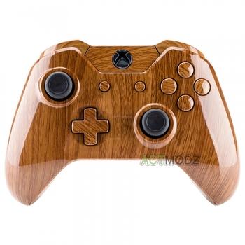 Drewniana konstrukcja pełne zestaw guziki ZESTAW DO NAPRAWIANIA dla Xbox jeden kontroler bezprzewodowy # NXOS005 tanie i dobre opinie Microsoft Xbox One Only Fit for Standard Xbox One controller with 3 5 mm Jack eXtremeRate