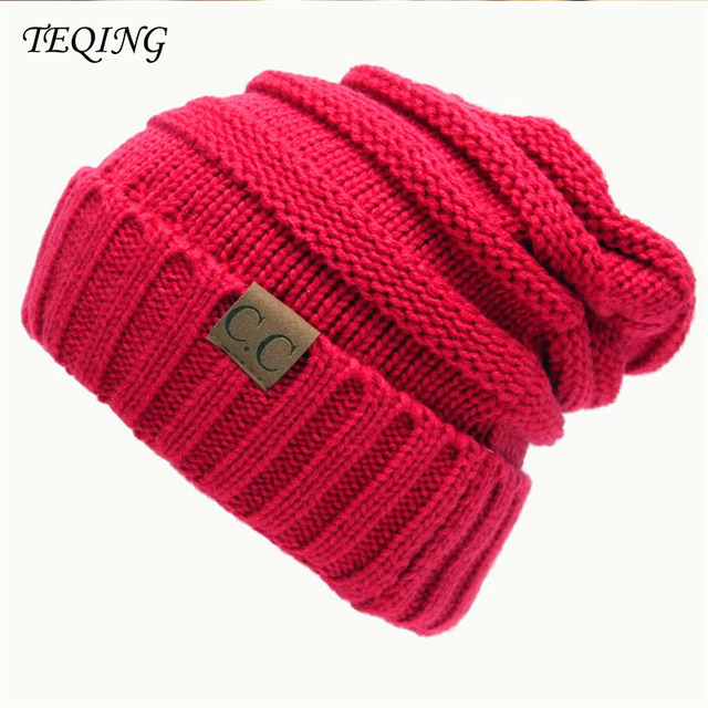 23208061629 TEQING Winter hat Cap Unisex Trendy Men Women Beanie Warm Chunky Soft  Stretch Cable Knit hat Slouchy Beanie Skully H-58