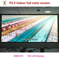 Banquete visual de alta definição P2.5 interior full color display led
