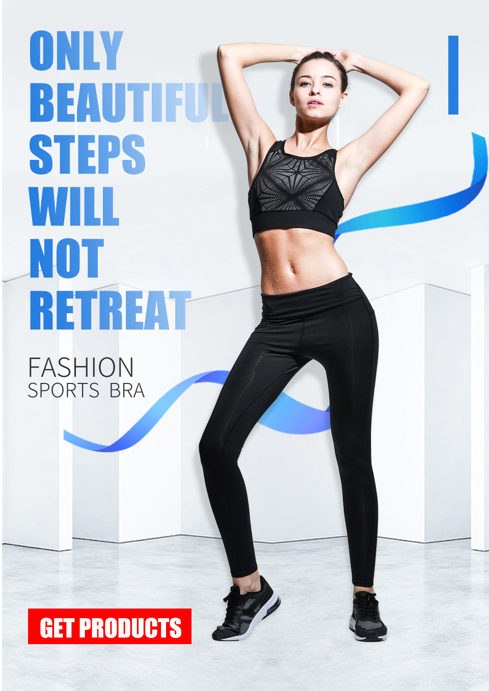 7d6e0712aa841 New Reflective Push Up Fitness Sport Bra High Support Shockproof Women  Brassiere Sports Top Yoga Fitness Running Gym Sportswear
