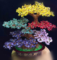New fashion natural color stone tree, crystal stone irregular stone tree furniture decoration