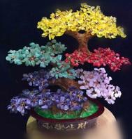 New fashion natural color stone tree, crystal stone irregular stone tree furniture decoration