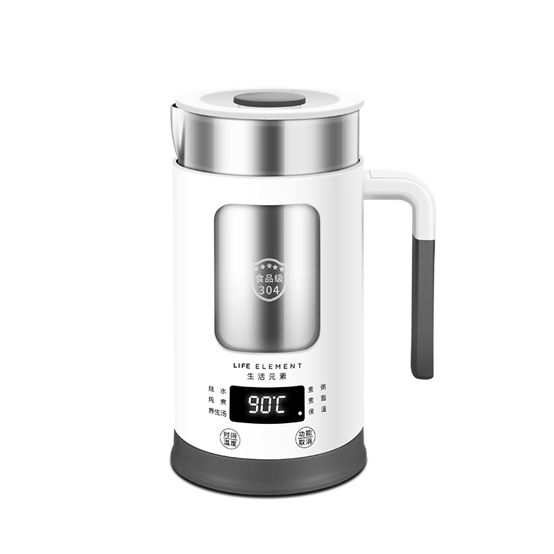100-240V Multi-function Electric Kettle Stainless Steel Health Preserving Pot Water Heating Cup Automatic Kettle 600ML