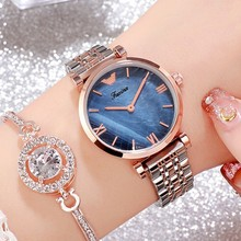 New Women Watches Women Fashion Rose Gold Dress Watch Women Stainless Steel Casual Ladies Watch relojes para mujer montre femme