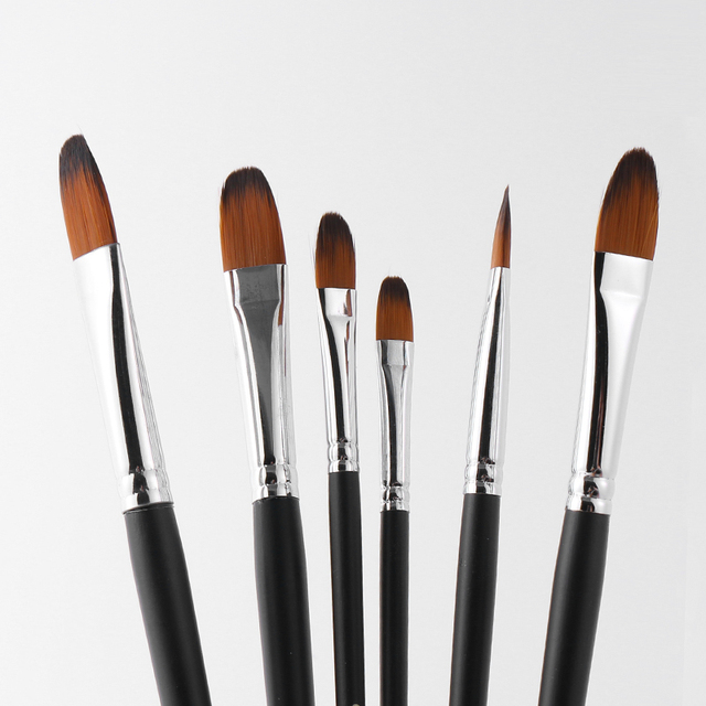 9pcs/set Nylon Oil Paint Brush Round Painting Brush For Watercolor,Oil,Acrylic Brush Pen pincel para pintura Art Supplies 803 2