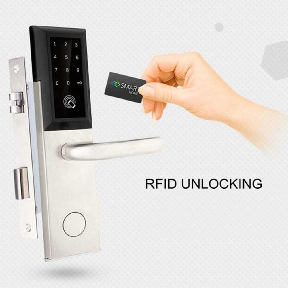 Bluetooth sécurité entrée serrure de porte combinaison électronique mot de passe serrure de porte numérique Code intelligent casier avec carte