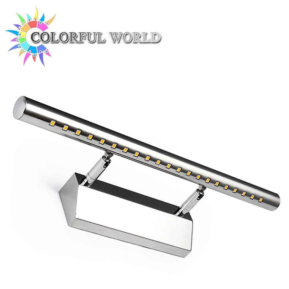 3W 5W 7W Bathroom LED Mirror Light AC220V 110V SMD5050 Mini Style LED Wall Lamps With