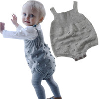Spring Autumn Cute Baby Rompers Newborn Baby Clothes Kids Girls Boys Long Sleeve Jumpsuit Infant Knitted
