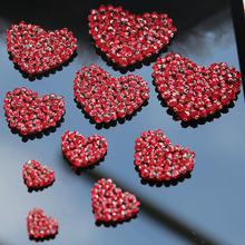 1 шт нашивки в виде сердца с бисером красного цвета Аппликации
