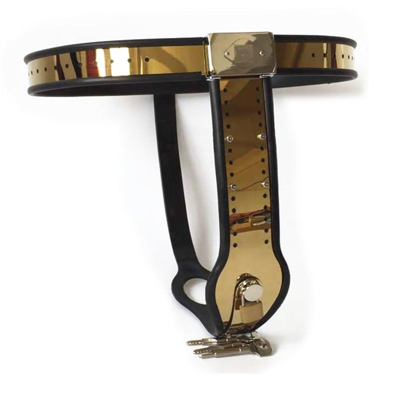 Titanium Alloy Female Chastity Belt with Anal Vaginal Plug,Virginity Pants Bondage Chastity Device Sex Toys for Women G7-5-50
