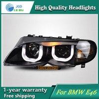 Фирменная Новинка Стиль чехол для BMW E46 316i 318i 320i 325i светодиодные фары 2001 2004 фар би ксеноновые светодиодные лампы ДРЛ Освещение