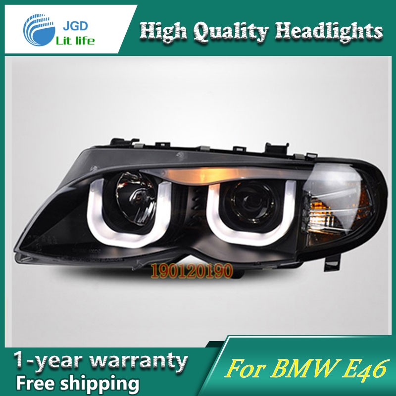 JGD Brand New Styling for BMW E46 316i 318i 320i 325i LED Headlight 2001-2004 Headlight Bi-Xenon Head Lamp LED DRL Car Lights jgd brand new styling for audi a3 led headlight 2008 2012 headlight bi xenon head lamp led drl car lights