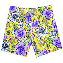 2019 Brand BREVILE PULLQUIN Board Shorts Men Morning Glory Turtle Printing Gay Boardshorts Sexy 100% Quick Dry Male Beach Shorts(China)