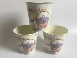 Image 3 - 6Pcs/Lot D10.5xH10CM Round Mini Vase Metal Table Centrepieces Lavender Design Flowerpot Flower pots SF 067