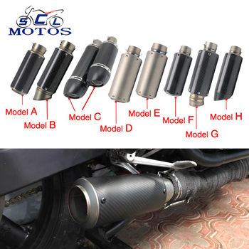 Sclmotos - Motorcycle Muffler Pipe Moto Exhaust GP Escape Dirt Bike,Street Bike,Scooter ATV Quad CB400 GSXR MT07 ER6N CBR Racing