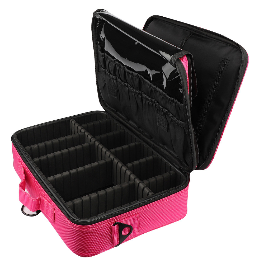 women Large Capacity Makeup Case 3 Layers Cosmetic Organizer Brush Bag  Makeup bag cosmetic cases for b7c6bf5edb4d8