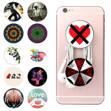 Popsoket Smartphones Pops Phone Ring Holder Pipsocket Cute попсокет Round Expanding Stand Grip Pocket Socket for All Cell Phone(China)