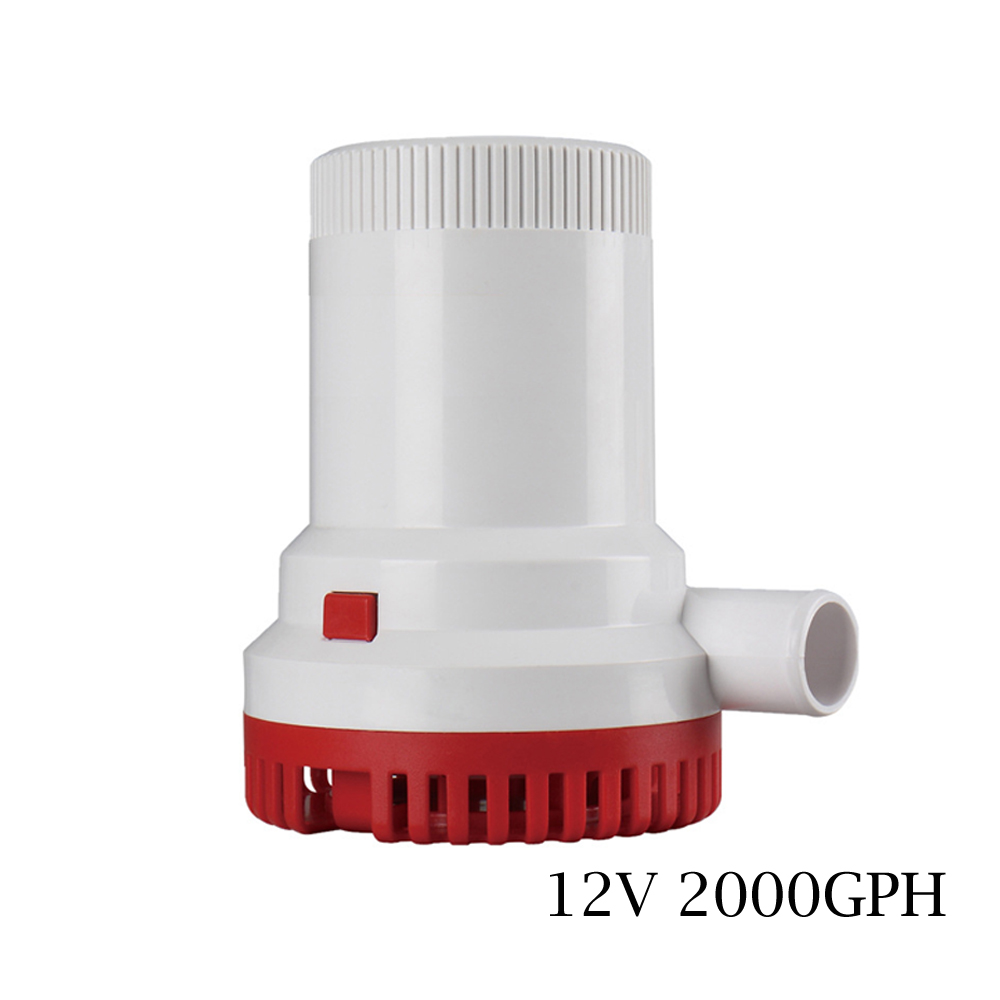 12V 2000GPH DC Bilge Pump Electric Pump for Boats Accessories marin,submersible boat water pump solar panel submersible pumps