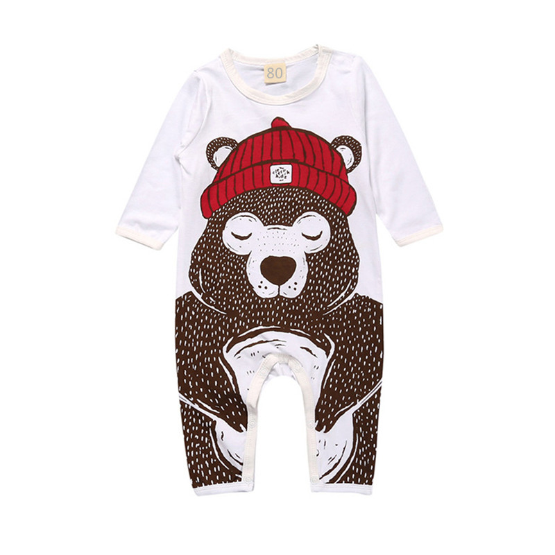 Kids Tales Baby Rompers Jumpsuits 2017 Spring Long Sleeve Newborn Infant Clothes Cartoon Animals Printing Children Clothing 0-2Y cotton baby rompers set newborn clothes baby clothing boys girls cartoon jumpsuits long sleeve overalls coveralls autumn winter