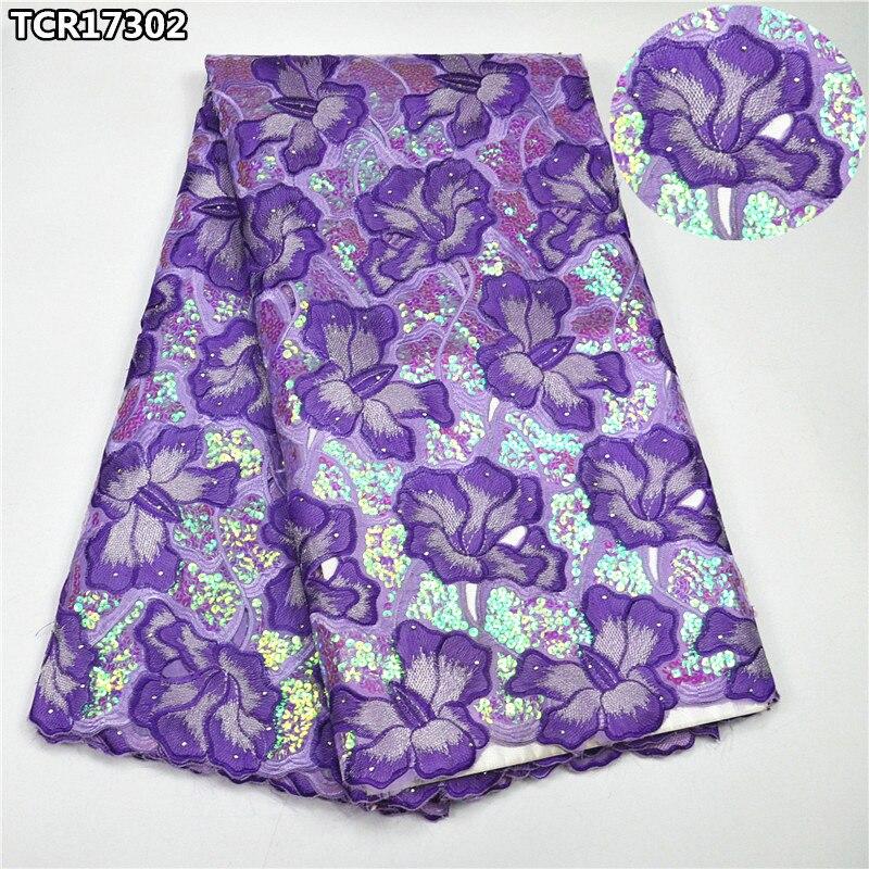 Shiny pailletten lila super high class Schweizer spitze voile stoff luxus Afrikanische baumwolle spitze stoff für braut hochzeit dressTCR17302-in Spitze aus Heim und Garten bei  Gruppe 1